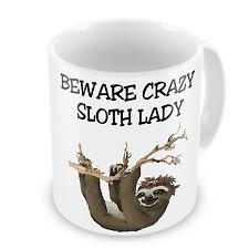 Beware Crazy Sloth Lady Novelty Gift Mug