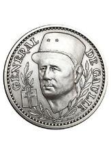 Medaille General de Gaulle bronze argenté.