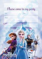 #103 FROZEN 2 - Pack of 1 x10 Anna Elsa kids children birthday party INVITATIONS