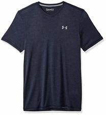 Under Armour Men's V-Neck Short Sleeve T-Shirt, Midnight Navy/Steel, X-Large