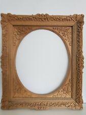 (L) alter Bilderrahmen verm. Meisterstück Massivholz geschnitzt FM 65,5x54,5 cm