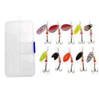 10Pcs Colorful Spinner Lures Baits for Bass Trout Perch Salmon Pike Fishing