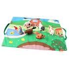 Kids Car Road Rugs City Farm Animal Map Play mat for Classroom/Baby Room