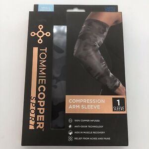 New Tommie Copper Sport Compression Arm Sleeve Joint Pain Relief SM/MED Camo