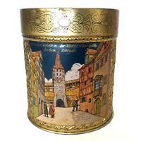 E. Otto Schmidt Nurnberg Germany Empty Lebkucken Gingerbread Tin Metal Container