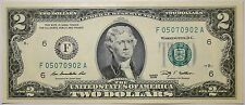 Gem UNC United States Federal Reserve $2 paper money Bank Notes series 2009