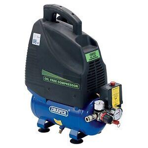 Draper Tools / Workshop 6L 230V 1.1Kw (1.5HP) Oil-Free Air Compressor - 24974