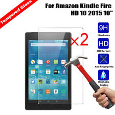 2Pcs NEW Premium 9H Tempered Glass Clear Screen Protector For Kindle fire Tablet