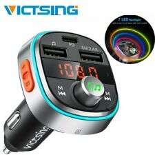 VicTsing 5.0 Bluetooth FM Transmitter QC3.0 Hi-Fi Radio Music Car F/Siri Googles