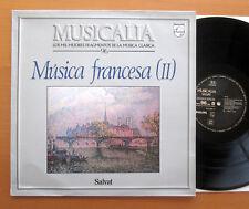 PHILIPS 416 595-1 Musica Francesca (II) Faure Satie Ravel Fournet MONTEUX Presque comme neuf/EX