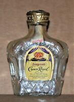 Vintage Seagram's Crown Royal (Empty) Collectable Miniature Bottle, Excellent
