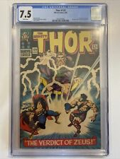 7.5 CGC Marvel Thor #129 1st Hercules Ares Pluto Zeus Appearances White Pages