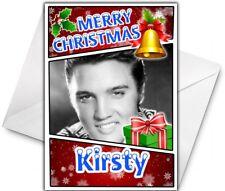 ELVIS PRESLEY Personalised Christmas Card - Elvis Personalised Christmas Card