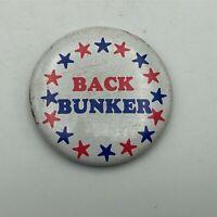 1972 Back Archie Bunker For President RWB Stars Button Pin Pinback Vintage P6