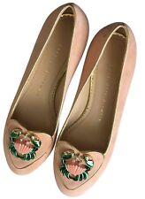 Nuevo Y En Caja Charlotte Olympia Zodiac Ballet Zapatos sin Taco Sin cáncer muy raro Talla 36.5 RRP £ 495
