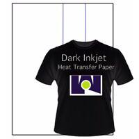 "Best Ink Jet Iron-On Heat Transfer Paper -  Dark fabric  -20 Sheets - 8.5"" x 11"""