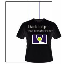 "Best Ink Jet Iron-On Heat Transfer Paper -  Dark fabric  -100 Sheets 8.5"" x 11"""
