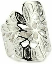 QVC  ELLE Butterfly Wing Ring Sterling Silver Size L