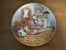 """Danbury Mint """"The Comforts of Home� Cat Collector Plate, Never Displayed"""