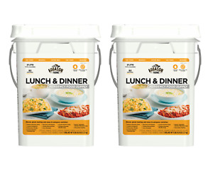 Augason Farms Lunch & Dinner Emergency Food Supply Storage Pail,11.03 lb 2 Cans