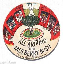 Vtg Record Guild Cardboard Picture Record 78 RPM All Around Mulberry Bush.