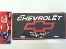 CHEVY LICENSE PLATE FRAME STAMPED METAL FRONT CHEVROLET RACING NASCAR FULL SIZE