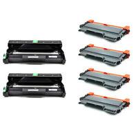 4 TN450 Toner cartridges+ 2 DR420 Drum Unit For Brother HL-2240 HL-2270DW/2280DW
