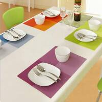 NEW PVC Dining Table Mat Heat-insulated Tableware Pads Bowl Pad Coasters