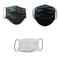 Face Mask Washable Reusable Adult Unisex 3 Pack(Gray,Black,White)Made in USA
