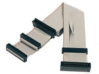 Inch 34-Pin Floppy Disk Drive Ribbon Cable Supports 2 Drives 3.5,5.25