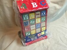 Schylling Alphabet Wooden Block House with 40 Wood Blocks New with Damage
