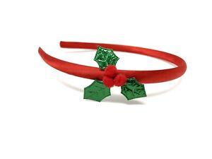 Holly Sprig Christmas Headband Xmas Hairband