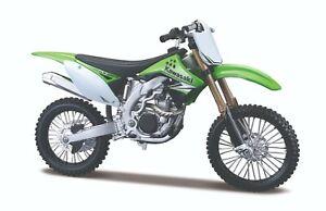 Maisto  1:12   Kawasaki KX-450F motorcycle model NOS  green/black