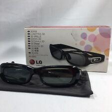 LG 3D Glasses AG-S250 for TV Projector Black Chargable Life's Good Plasma HDTV