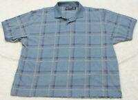 3XL Blue Polo Shirt Short Sleeve XXXL Faded Glory Cotton Polyester Man's Men's