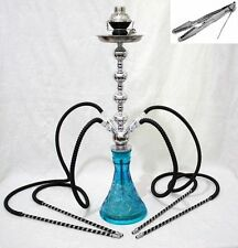 "4 hose 28"" Sky Hookah shisha nargila sale narguile pipe glass water Vase new"