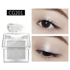 Catkin Eyeshadow Shimmer Single Colors Long Lasting Eye Shadow Palette #Silver
