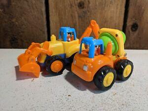 GoStock Friction Powered Construction backhoe Vehicle Push Go Toys 051621