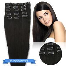 Remy Echthaar Clip in Extensions 7 Tressen 16 Clips Haarverlängerung 50cm 55cm