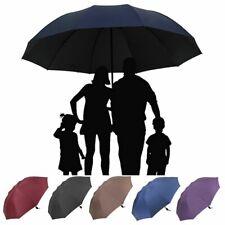 Large Folding Umbrella Men Women Anti-UV Windproof Rain Oversize Golf Umbrella