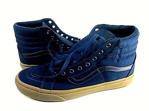 Vans Men's SK8-Hi Reissue Dress Sneaker Canvas Blue/Brown Size 12 M VN-0A2XSBLWC