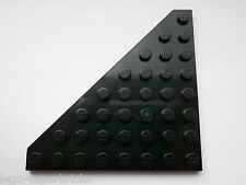 2x Lego (part no 30504) Plate 8 x 8 without Corner in Black