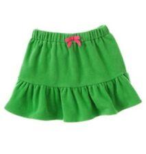 NWT 3 Years Gymboree CHEERY ALL THE WAY Bright Green Elastic Waist Fleece Skirt