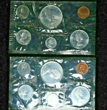 1964&1967 Canada Mint Proof-like Sets 80% Silver Dollar 99c NO RESERVE