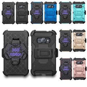 Samsung Galaxy Express 3 / Luna / Amp 2 / J1 2016 Armor Case Cover + Belt Clip