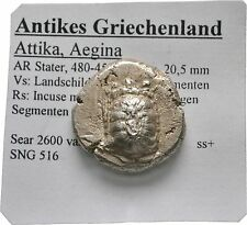 LANZ Islands Attica Égine Tortoise incuse Skew SILVER GREEK § tem2705