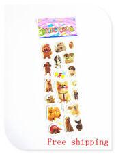 1 sheet 3D PVC pets dog stickers lot kids paper book Crafts Puzzle Xmas