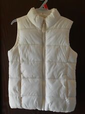 GIRLS OLD NAVY SLEEVELESS IVORY QUILTED ZIP-UP VEST SIZE XS-5