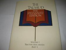 Steinsaltz Talmud Tractate BAVA METZIA I  ENGLISH book