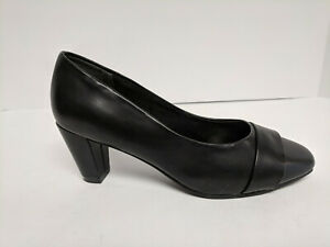 Soft Style Mabry Dress Pumps, Black, Womens 6 Extra Wide